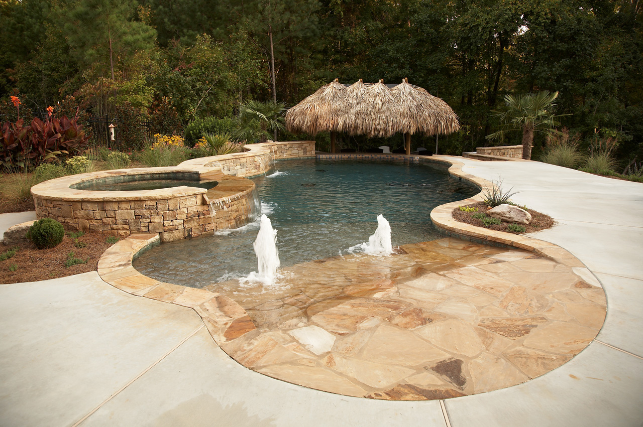 Tropical Backyard Oasis | Classic Landscapes on Tropical Backyard  id=50025