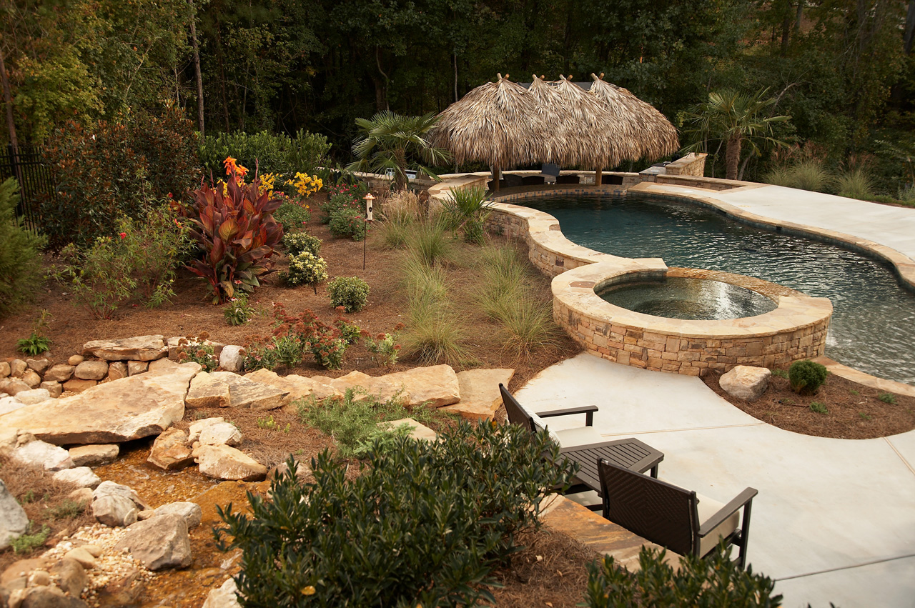Tropical Backyard Oasis | Classic Landscapes on Tropical Backyards  id=49100